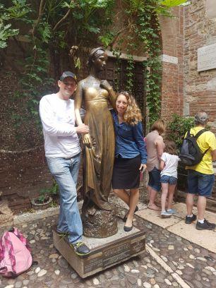 אני ואהובי ויוליה האצילית בוורונה איטליה 2016